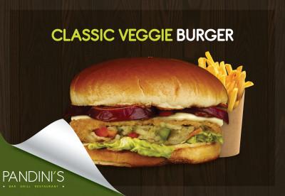 Mediterranean Veggie Burger